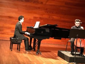 Duo recital, with José David Marquez (cello)