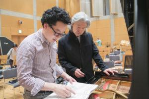 At rehearsal with Maestro Naoto Otomo