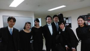 With the members of the string sextuor