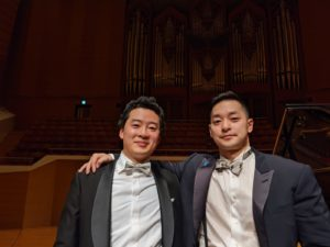 After the concert at Suntory Hall, with Ryu Goto (violin)